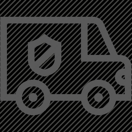 car, refusal, security, shield, truck icon