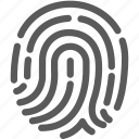 bank, financial, fingerprint, password, security icon