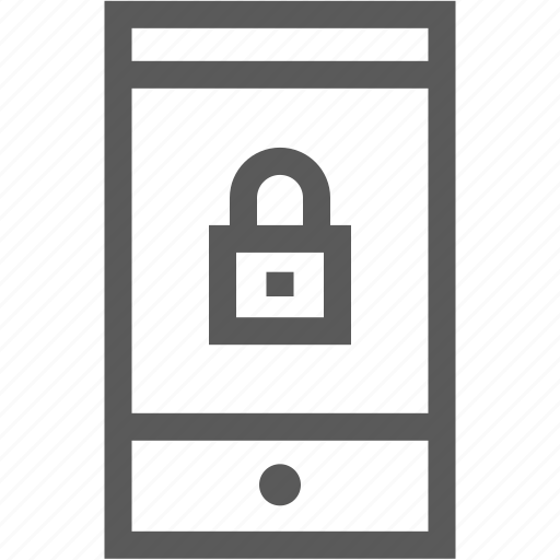 lock, log in, mobile, phone, security, smartphone icon