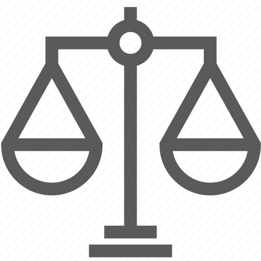bank, law, scales, weight icon