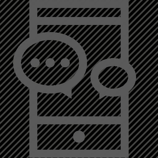 customer service, message, mobile, smart phone, speech bubble icon