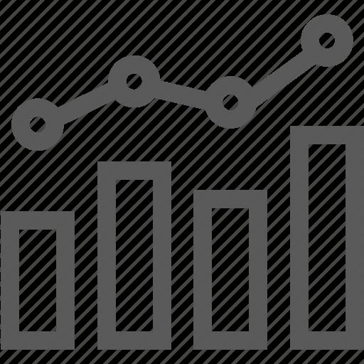 bank, bar graph, chart, graph, math, statistics icon