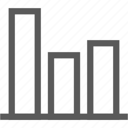 bar graph, chart, graph, math, statistics icon