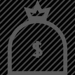 bank, dollar, financial, money, sack icon