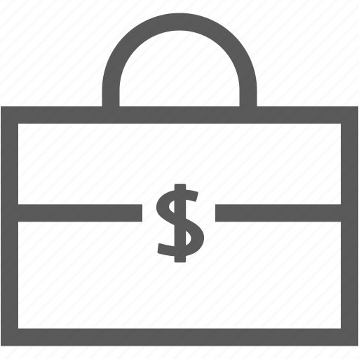 bag, bank, business, dollar, financial, money, office icon