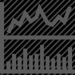 bar graph, chart, company, graph, line graph, share, stock icon