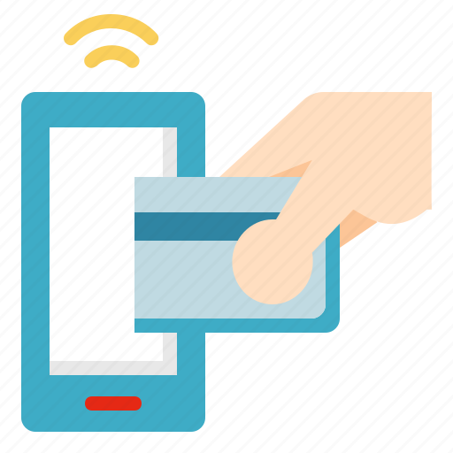card, online, payment, smartphone icon