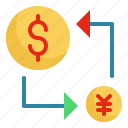 commerce, finance, money, transfer icon