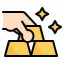bank, business, finance, gold icon