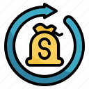 bag, banking, business, finance, money, repurchase icon