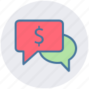 communication, conversion, dollar, dollar sign, messages, sms, typing icon