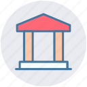 banking, building, columns, court, finance, finance and business, school