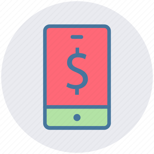 Dollar, mobile, mobile phone, online marketing, online shopping, phone, smartphone icon - Download on Iconfinder