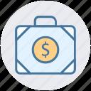 bag, bank, business, dollar, dollar bag, money, office bag