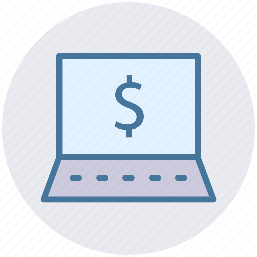 Computer, cost, device, dollar, laptop, notebook, online payment icon - Download on Iconfinder