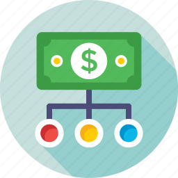 business, currency, dollar, hierarchy, investment icon