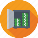 safe box, bank locker, locker, bank safe, money box icon