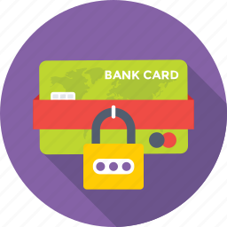 credit card, defence, lock, locked card, protection icon