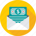 banking, banknote, currency, envelope, money icon