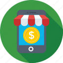 eshop, m commerce, mobile, online store, shopping app icon
