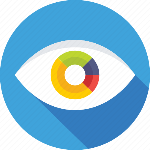 analysis, business view, graph, view, vision icon