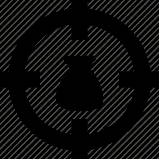 business target, crosshair, marketing, sack, target icon