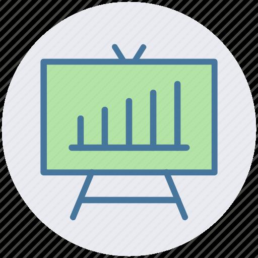 board, business graph, business presentation, chart, graph, graph board, presentation board icon