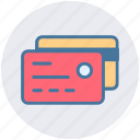 banking, buy, cards, cash, credit card, debit, paying icon