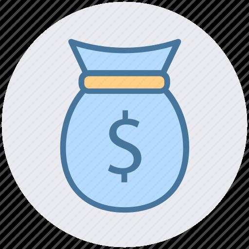 bag, bank, dollar bag, finance, money icon