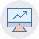 analytics, business, computer chart, graph, monitoring, statistic icon