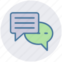 chatting, communication, conversion, messages, sms, typing icon