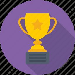 achiever, champion, topper, trophy, winner icon