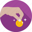 currency, contribution, coin, donation, give icon