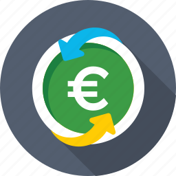 currency, currency exchange, euro value, foreign exchange, money exchange icon