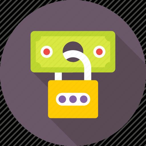 lock, padlock, protection, safe banking, secure icon