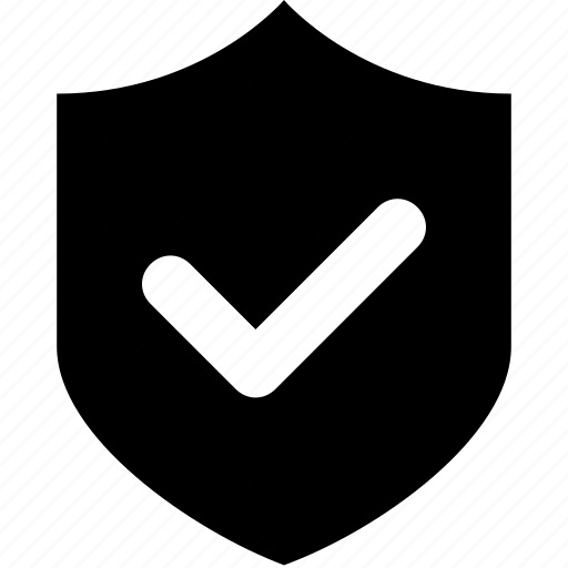 firewall, insurance, protection, shield, tick icon