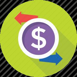 currency exchange, dollar exchange, dollar value, foreign exchange, money exchange icon