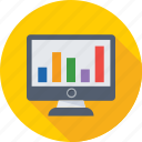 diagram, infographics, monitor, online analytics, online graphs icon