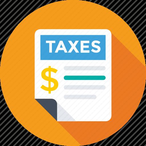 dollar, report, revenue paper, tax, tax calculator icon