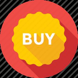 badge, brust, buy, buy sticker, label icon