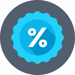 discount badge, discount offer, discount sticker, percentage, promotional offer icon