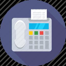 digital phone, fax, fax machine, landline, phone icon