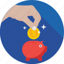 cash bank, economy, money bank, piggy bank, saving icon