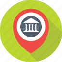 bank location, bank locator, gps, map pin, navigation icon