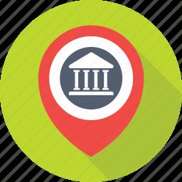 bank location, bank locator, gps, map pin, navigation icon