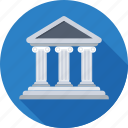 architecture, bank, banking, building, real estate icon