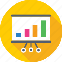 analytics, bar chart, bar graph, presentation, statistics icon