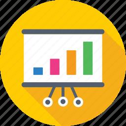 analytics, bar chart, bar graph, presentation, statistics icon