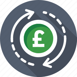 currency, currency exchange, foreign exchange, money exchange, pound value icon