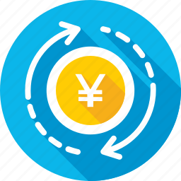 currency exchange, foreign exchange, japanese yen, money exchange, yen value icon